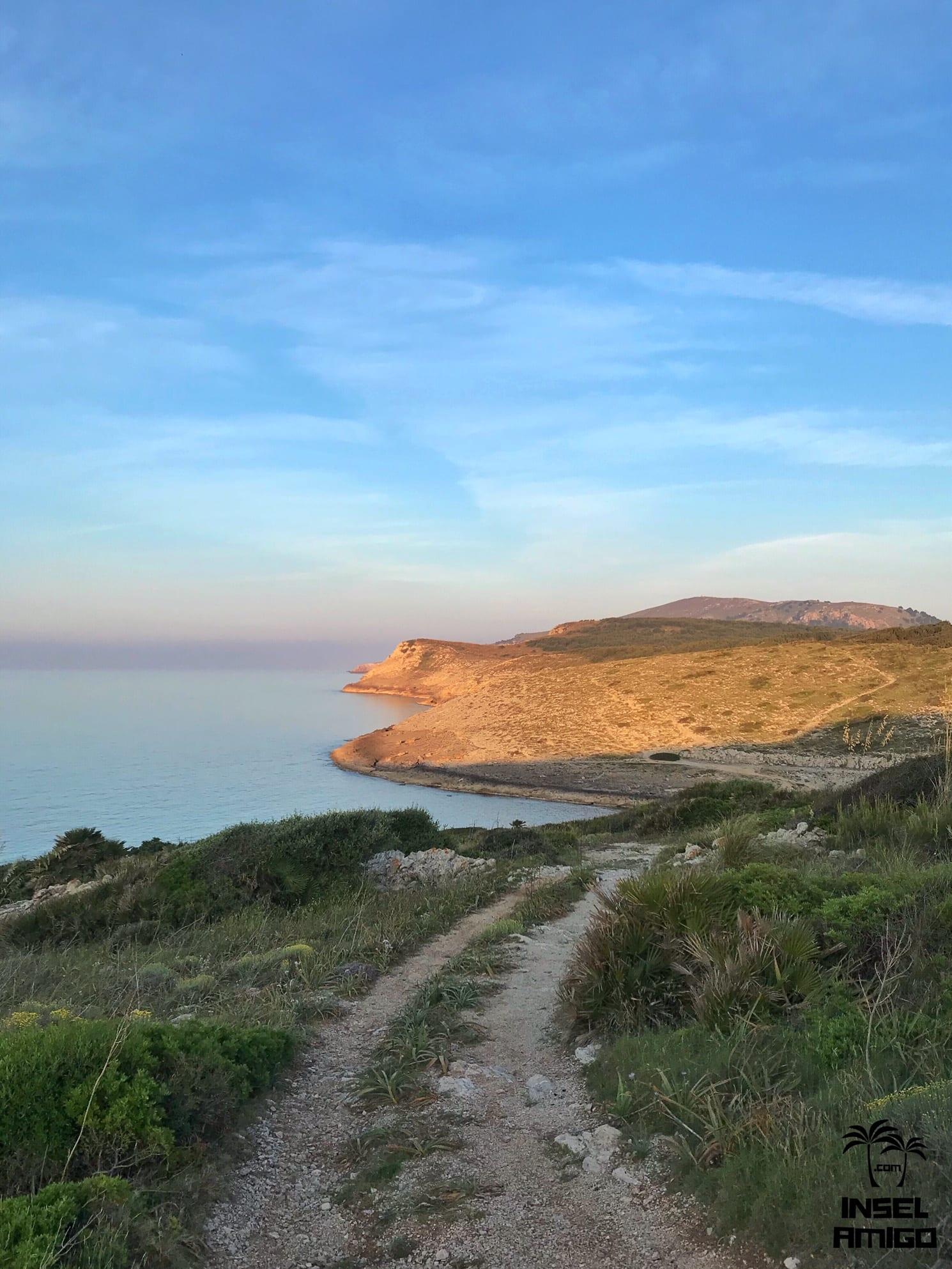 Der Sonnenuntergang in der Cala Mitjana