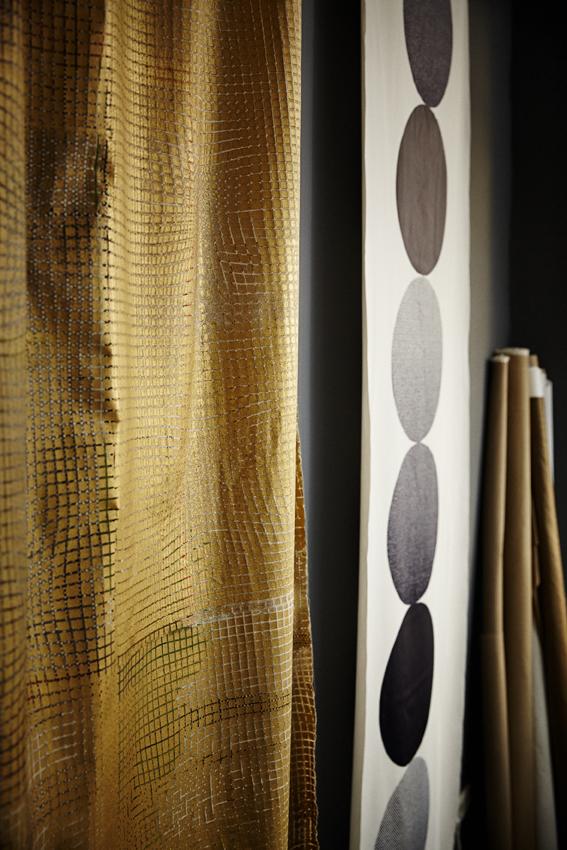 FABRICS INTERIOR  screen print/ cotton and tyvek