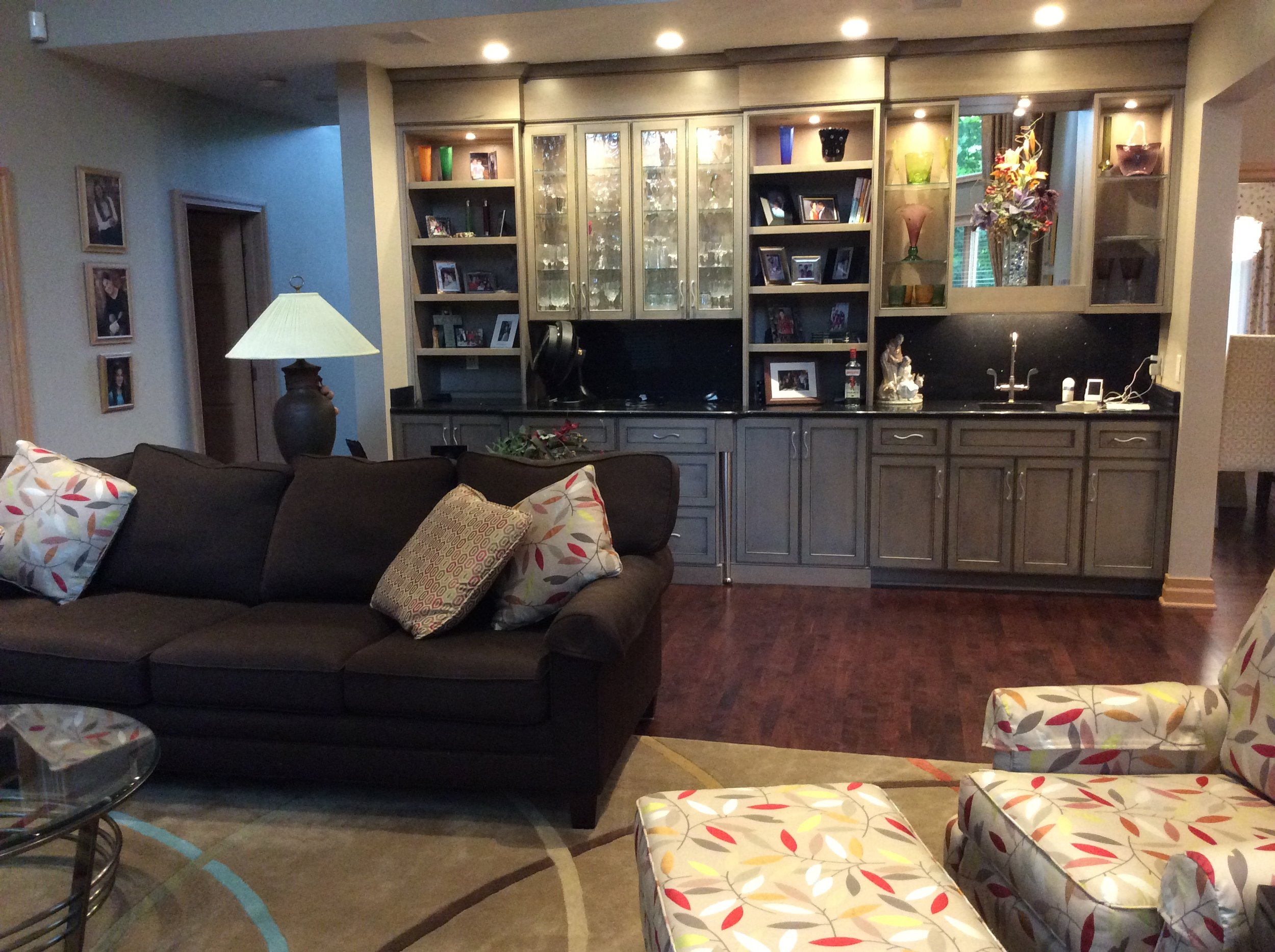 """We work with you in designing that """"one of a kind"""" built in to enhance the beauty and functionality of the room, or provide the finishing touches from window treatments to furniture to make your room complete."""