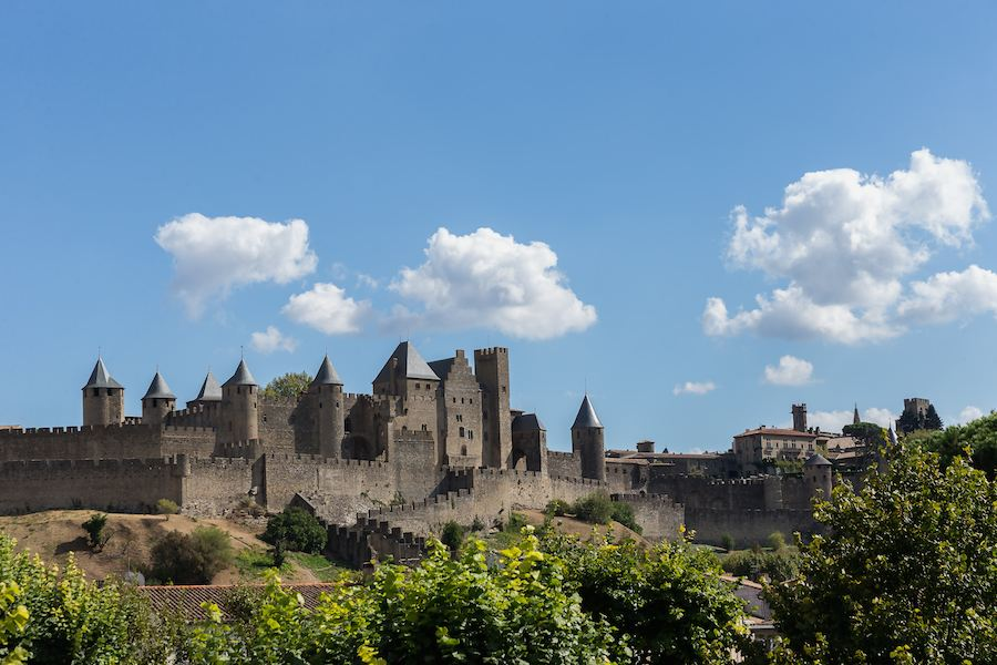 The ramparts of the old town, Carcassonne. Photos Anton Kruger.