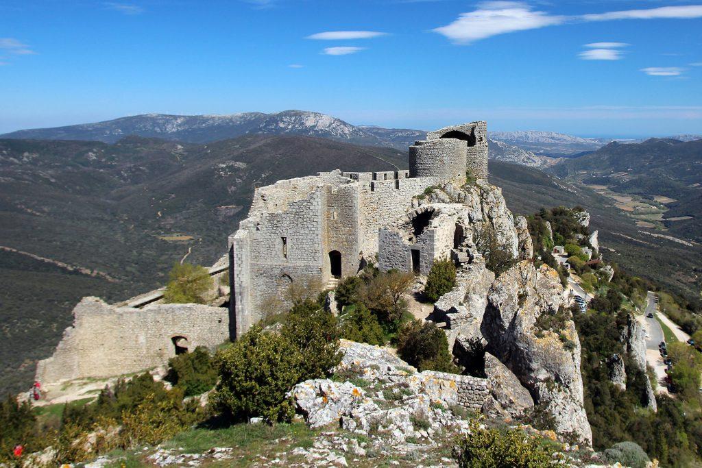 The castle of Peyrepertuse. Photo Montagnac Pascal
