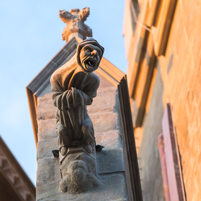 A gargoyle in Carcassonne