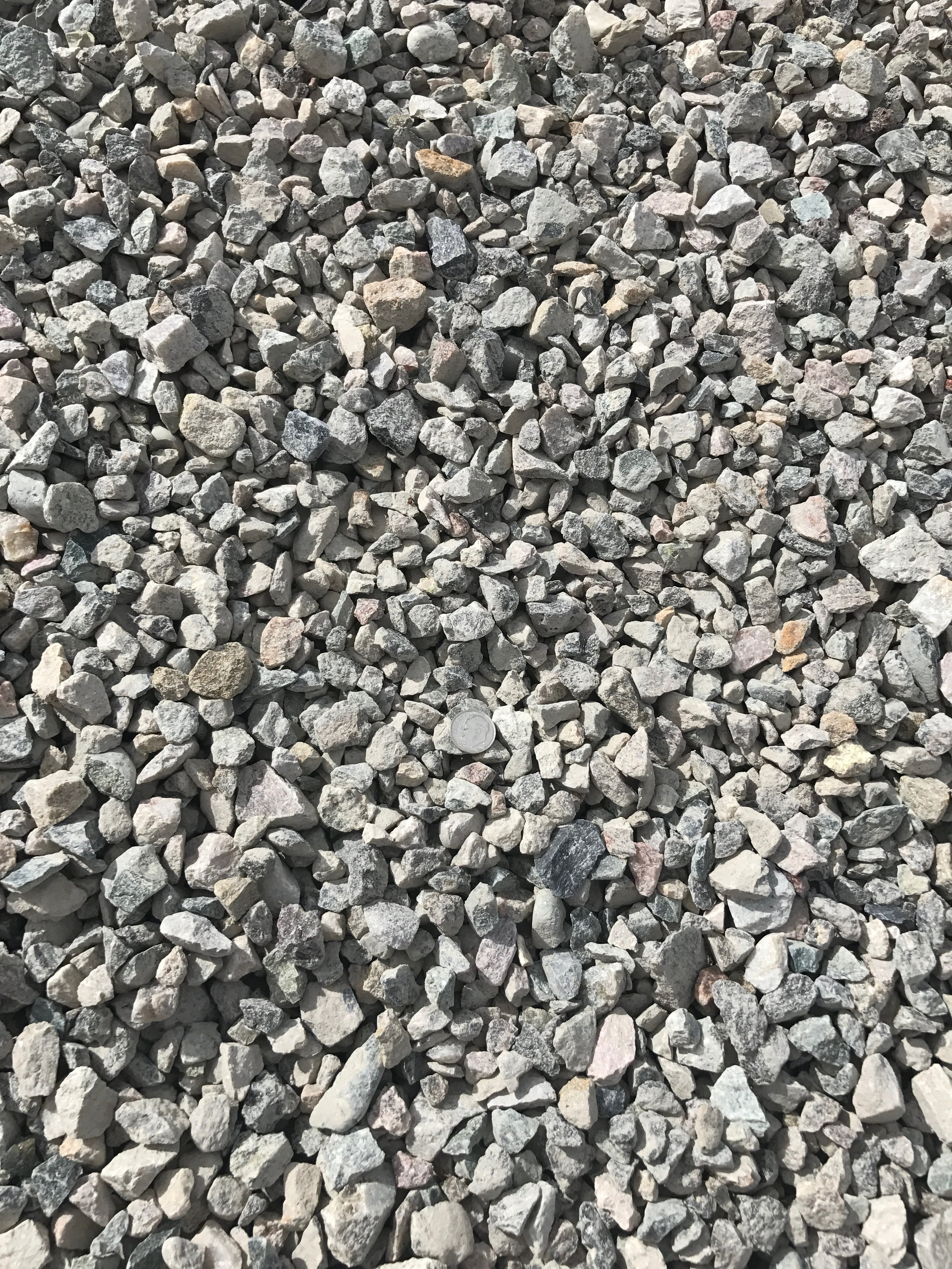 "1/2"" Crushed  Crushed rock used for drainage backfill, mixing concrete and landscaping"