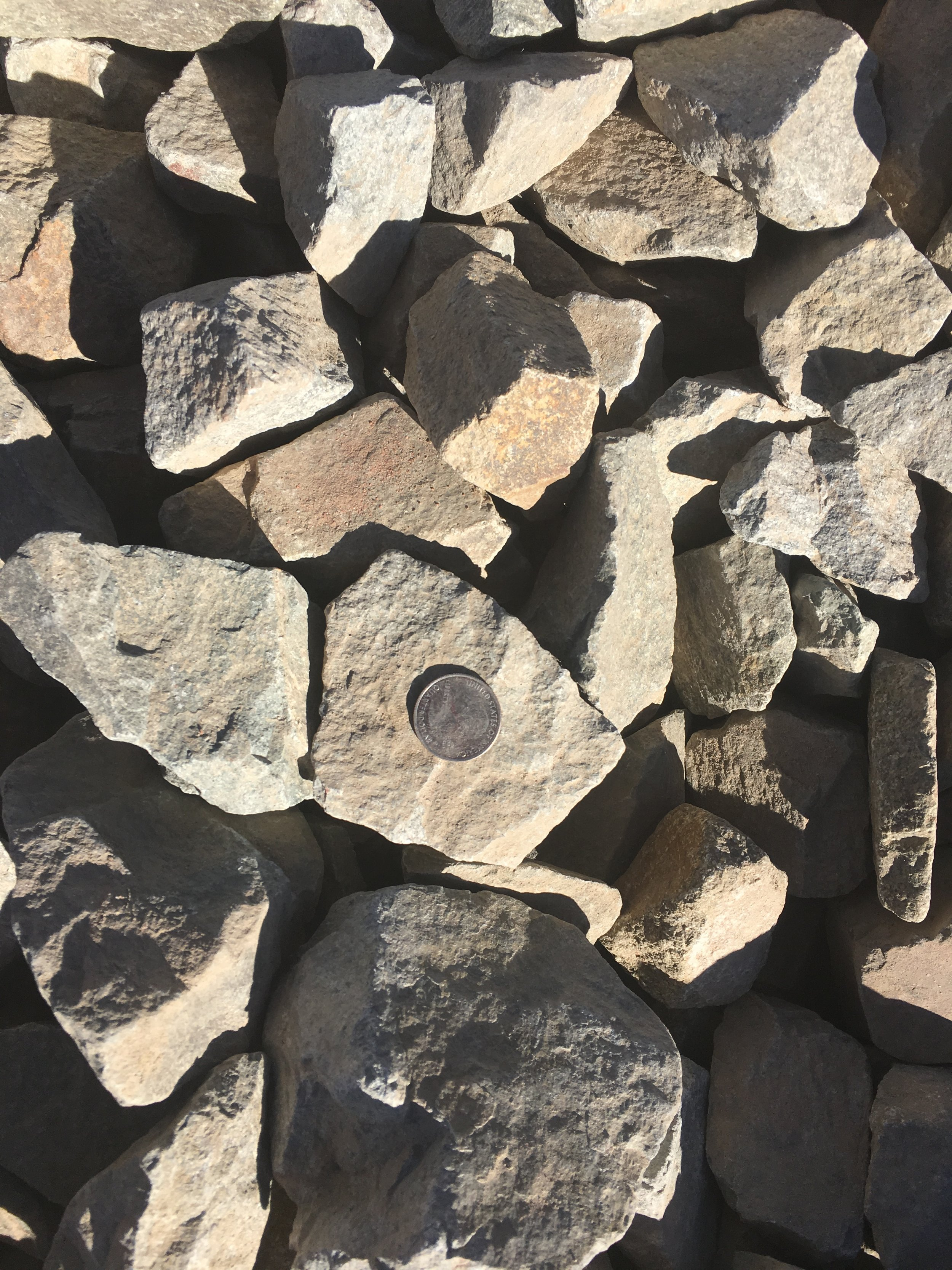 "2-4"" Waldo  Rock mined from our Waldo Canyon mine - distinctive coloring a favorite for landscaping"