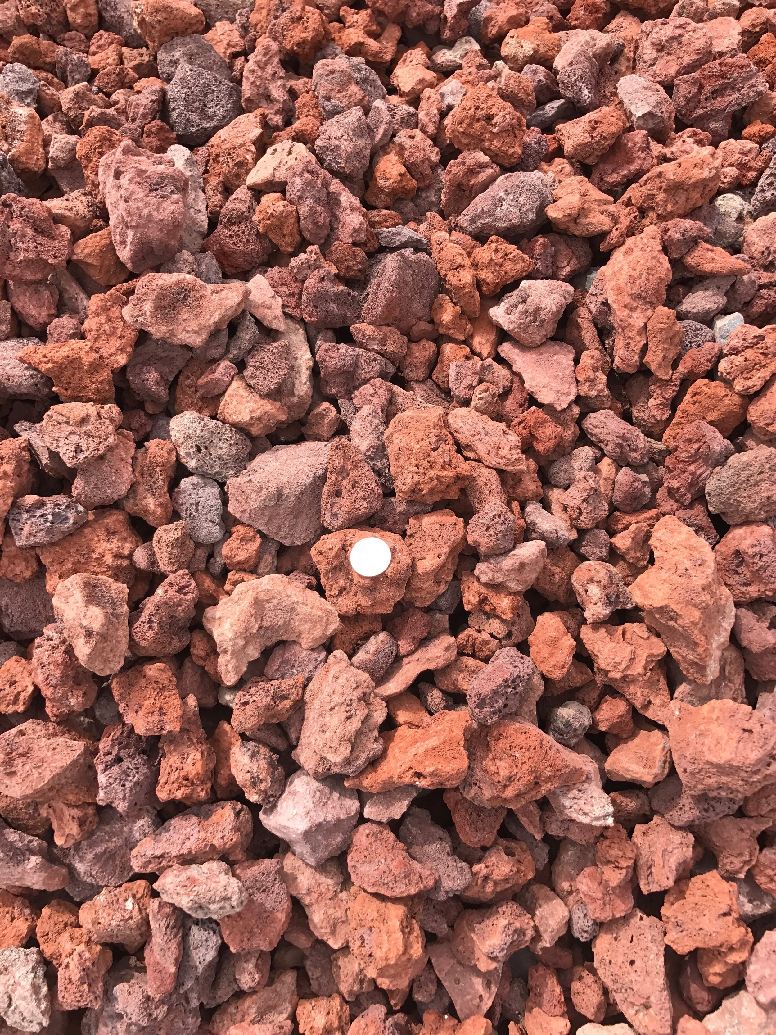 "Scoria 1 1/2""  Red pumice rock used for landscaping"