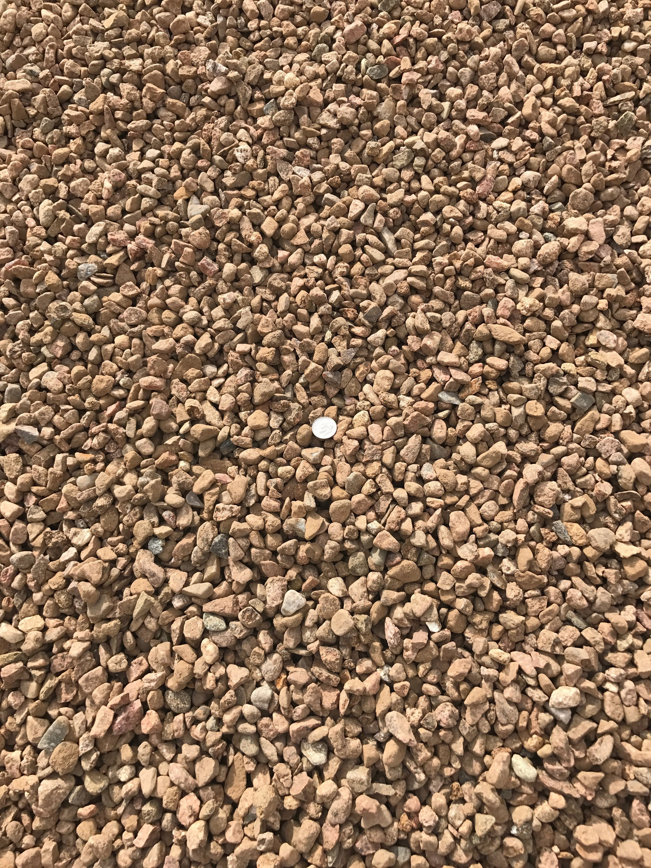 "Santa Fe Brown 7/16""  Popular brown landscape gravel"