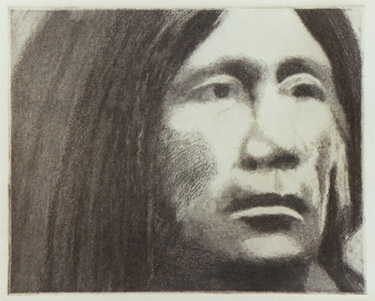 "Chief Miguel - proof Dimensions: 10"" x 8"" Price: $90 ppd"