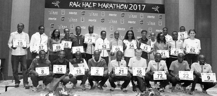 The elites of RAK Half Marathon 2017