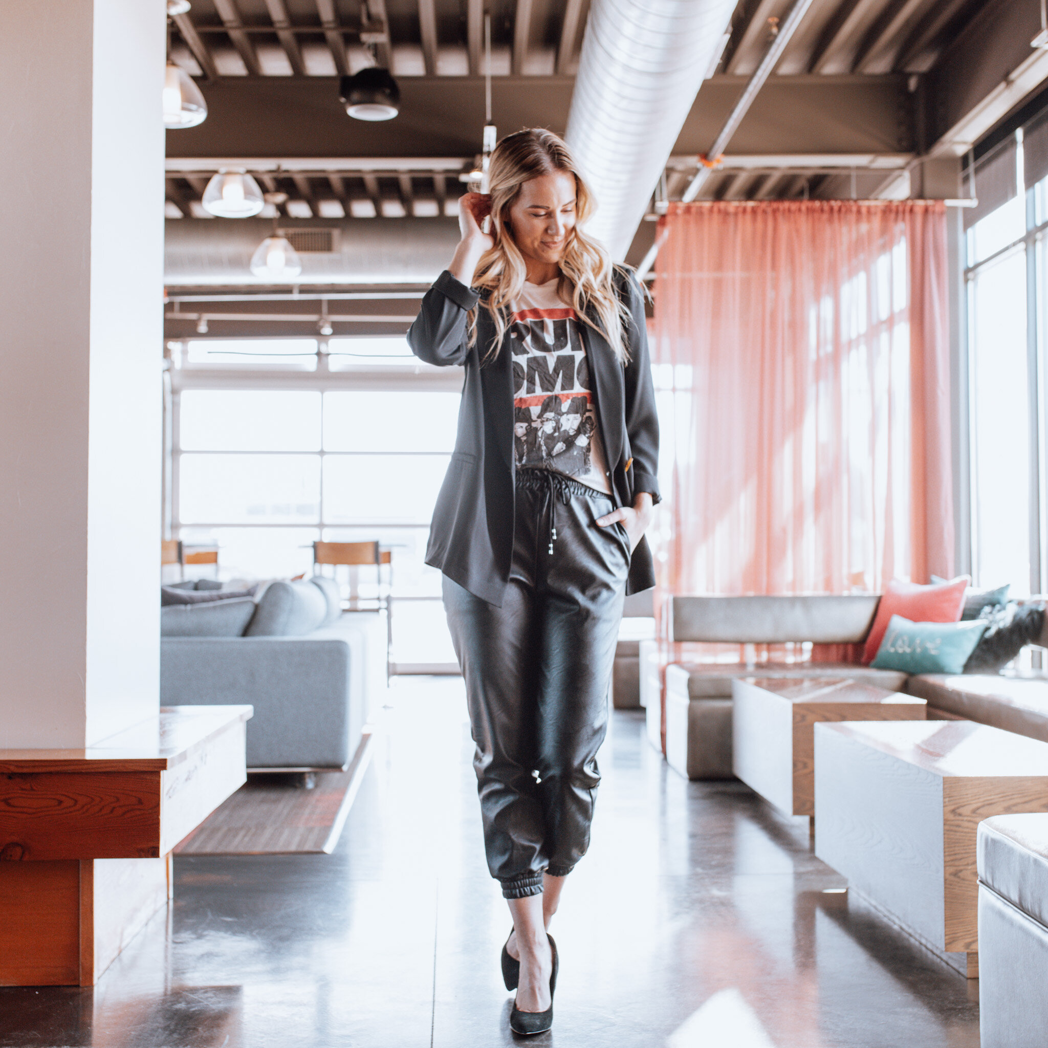 5 WAYS TO WEAR LEATHER JOGGERS