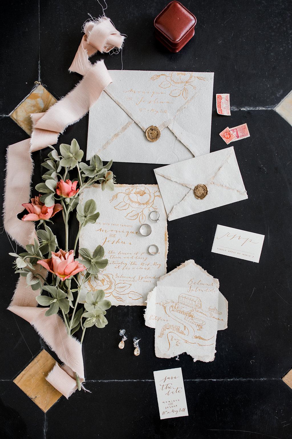 the Marthy's vintage garden wedding planner italy tuscany toscana portofino belmont splendido destination stationery cappligraphy 26.jpg