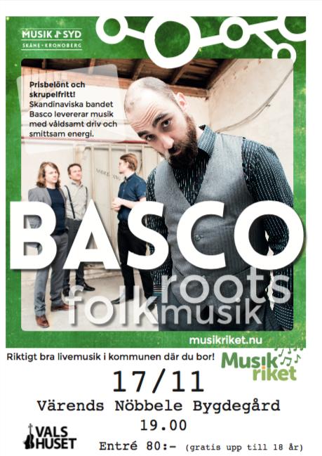 Bascos musik är komplex och varierad, från direkta, snabba reels fulla av harts, damm och svett, genom ljuva, melankoliska melodier som berättar om vunnen och förlorad kärlek, till sånger som när det kommer till kritan, helt enkelt handlar om sex. Bascos material är nästan alla original, med skamlöst och lättsinnigt stulna idiom från skandinaviskan, engelskan, keltiskan och amerikanskan, och bildar en sorts organisk soppa.