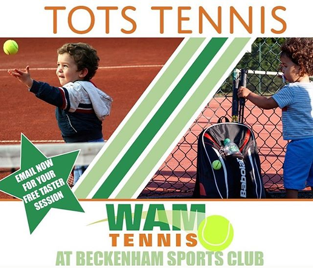 Learn the physical A (agility), B (balance), C (coordination) while playing silly feet & dinosaur eggs! Book now for Tots Tennis 3-5yrs (first session free) @beckenhamsportsclub Saturdays 11.35 & 12.30, Wednesdays 1pm & 4.45pm. Contact Sharon on 07977464481 or book via www.wamtennis.co.uk/tots-tennis #bromleymums #beckenhammums #totstennis #kidstennis #montessori #daynursery #beckenham #bromley #penge