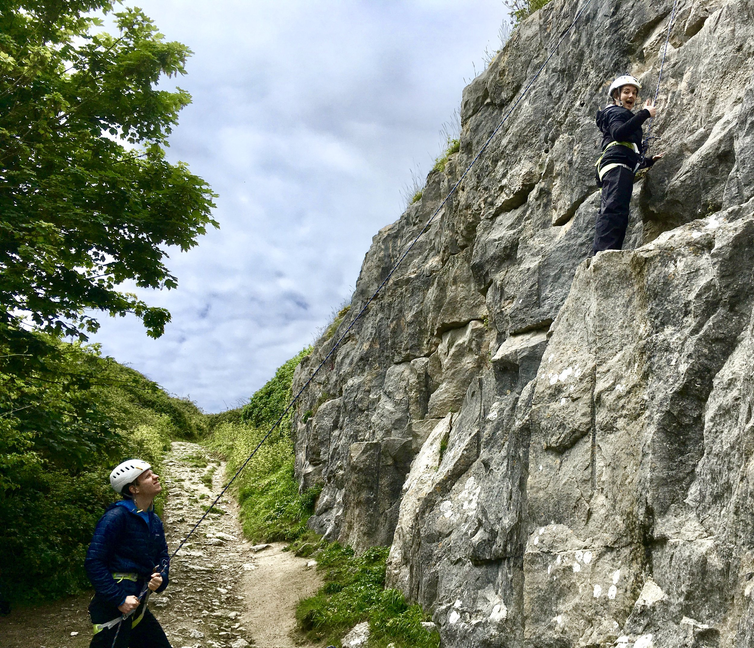 Isabel and Louis - I arranged a one-day climbing trip with Head on Out as a birthday gift and it was a fantastic decision! Ed took us for an awesome day of climbing in Dorset. Ed is an excellent instructor - knowledgeable, patient, enthusiastic and fun! The day was extremely well organised - including transportation and a variety of well thought through climbing routes which perfectly suited our mix of experience (one of us a regular boulderer and the other a nervous beginner). It was wonderful to get out of London for the day (and felt like we had been on a mini-break!). Whether you are an experienced climber, or are just starting out and curious about climbing, we would highly recommend taking a trip with Head On Out - our day could not have been better!