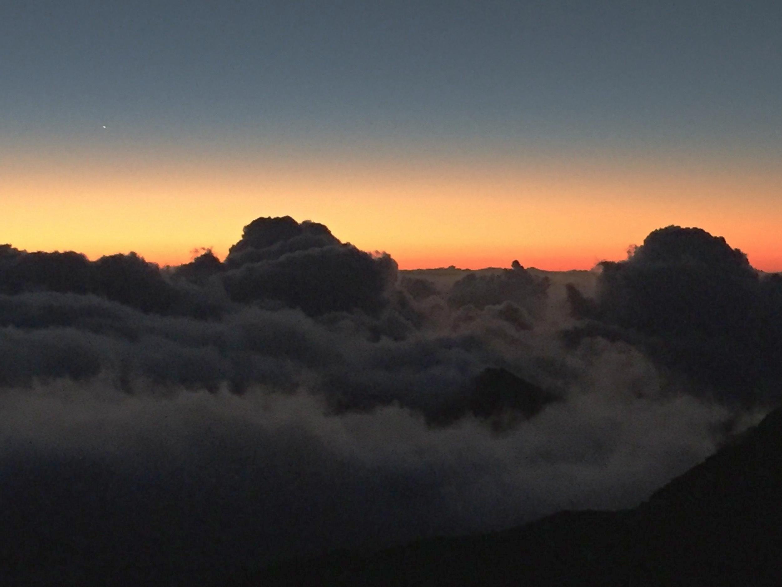 Sunrise from top of Haleakala