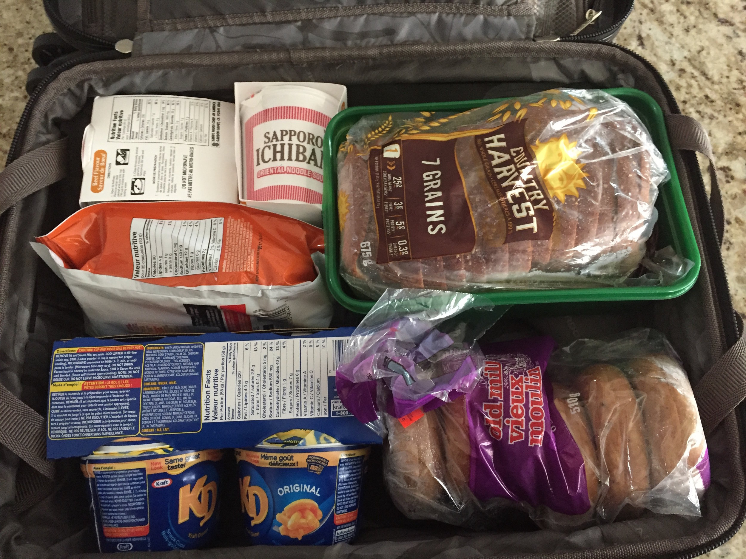 Carry On Full of Safe Food