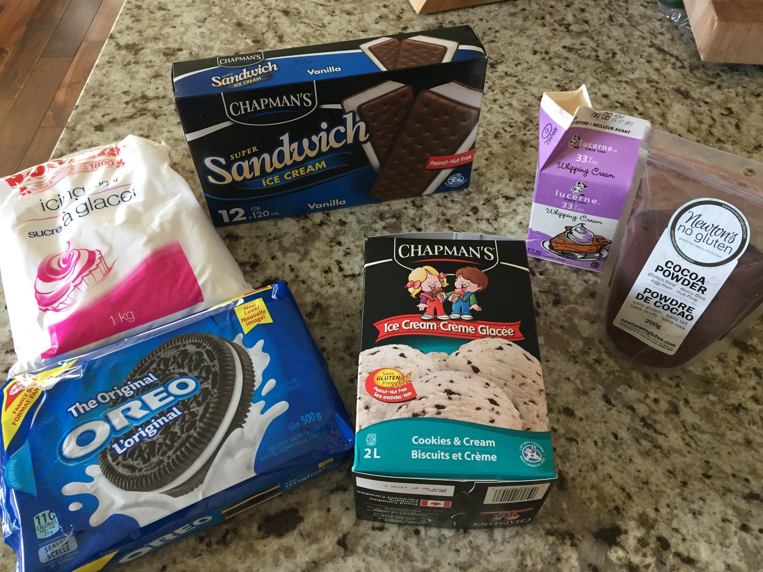 Peanut & Tree Nut Free Ice Cream Cake Ingredients