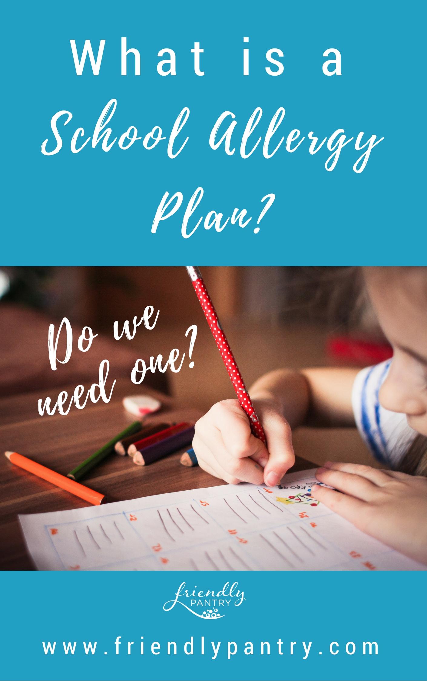 Food allergies and school