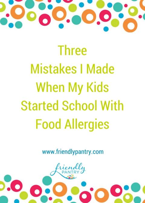 How to handle food allergies at school