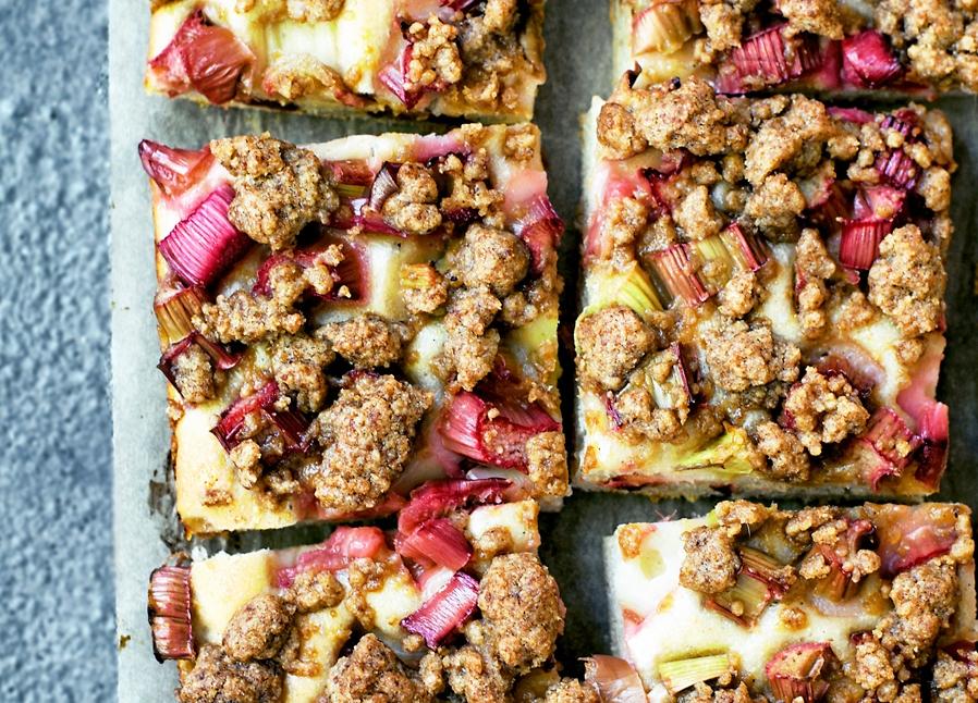 Allergy friendly rhubarb cake