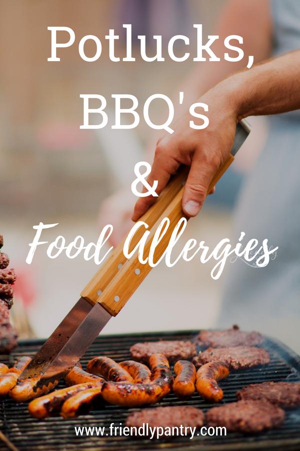 Potlucks, BBQ's and Food Allergies