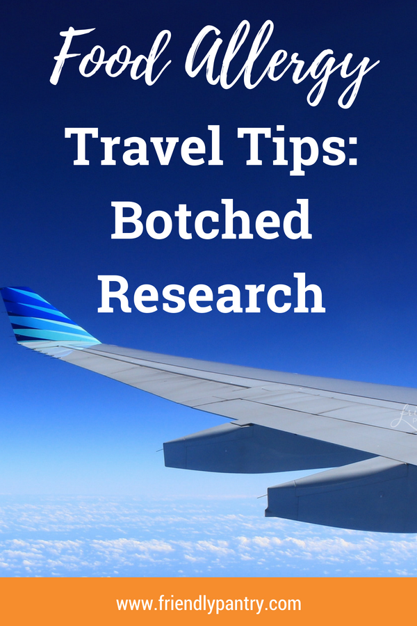 How to travel with food allergies