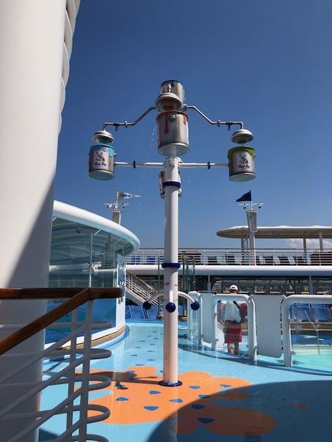 Pool area on the Disney Cruise Line Magic