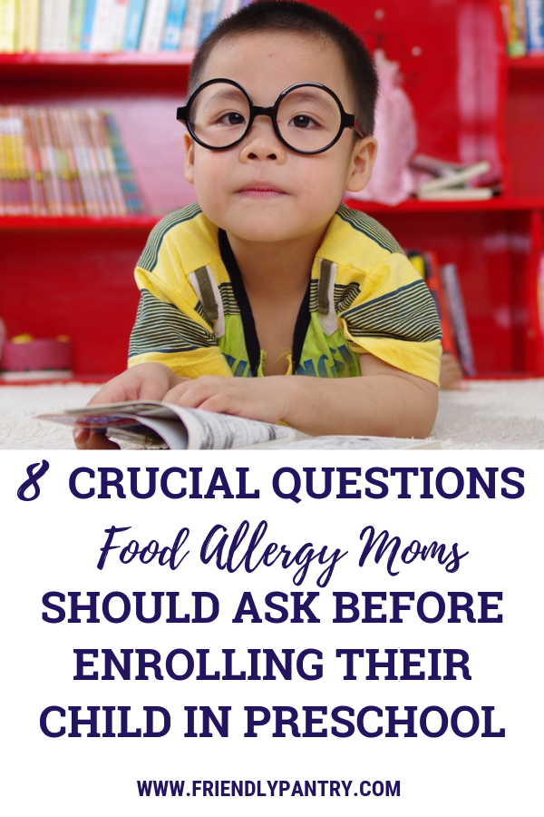 Food allergies school questions