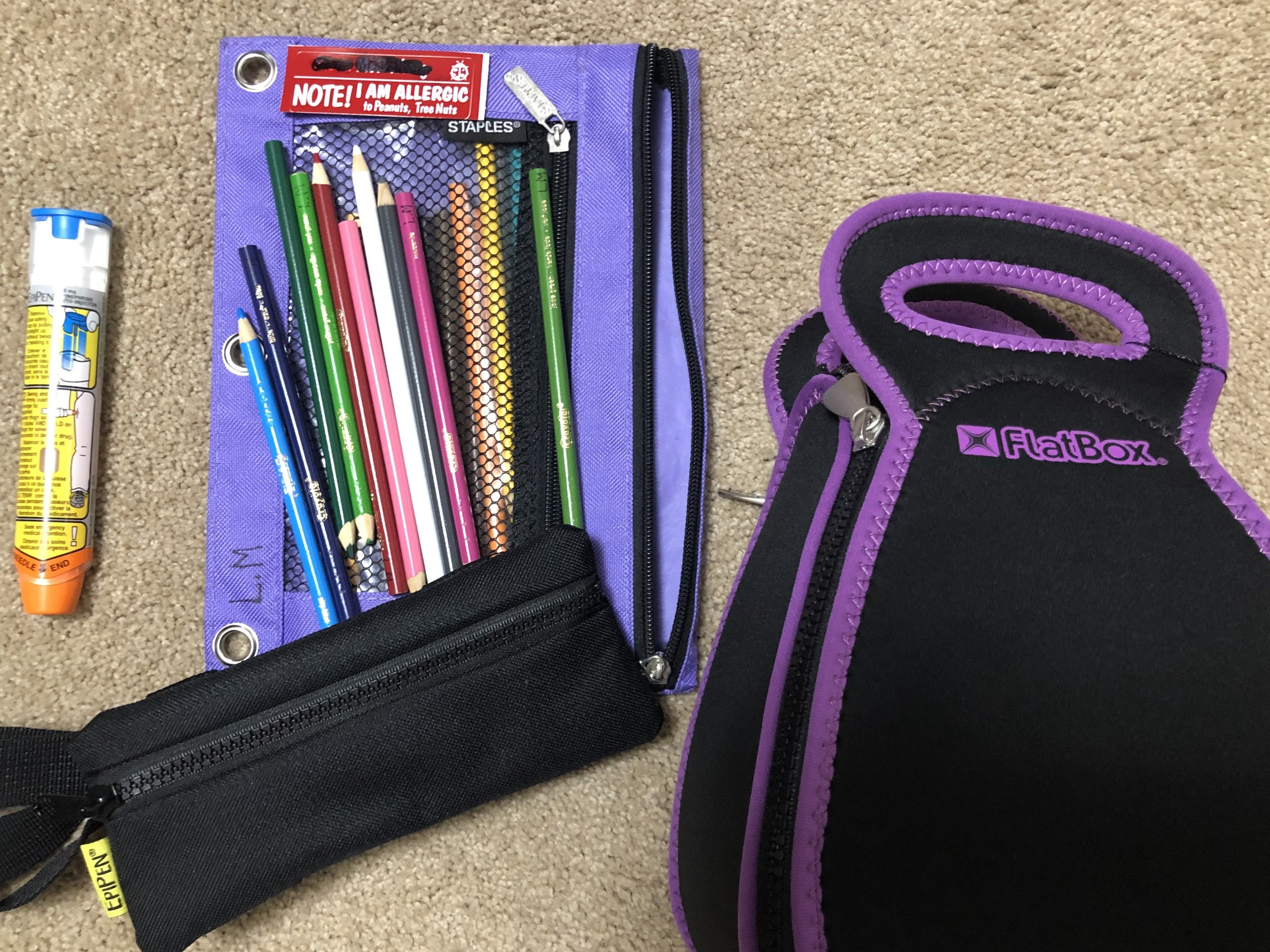 School supplies for kids with food allergies