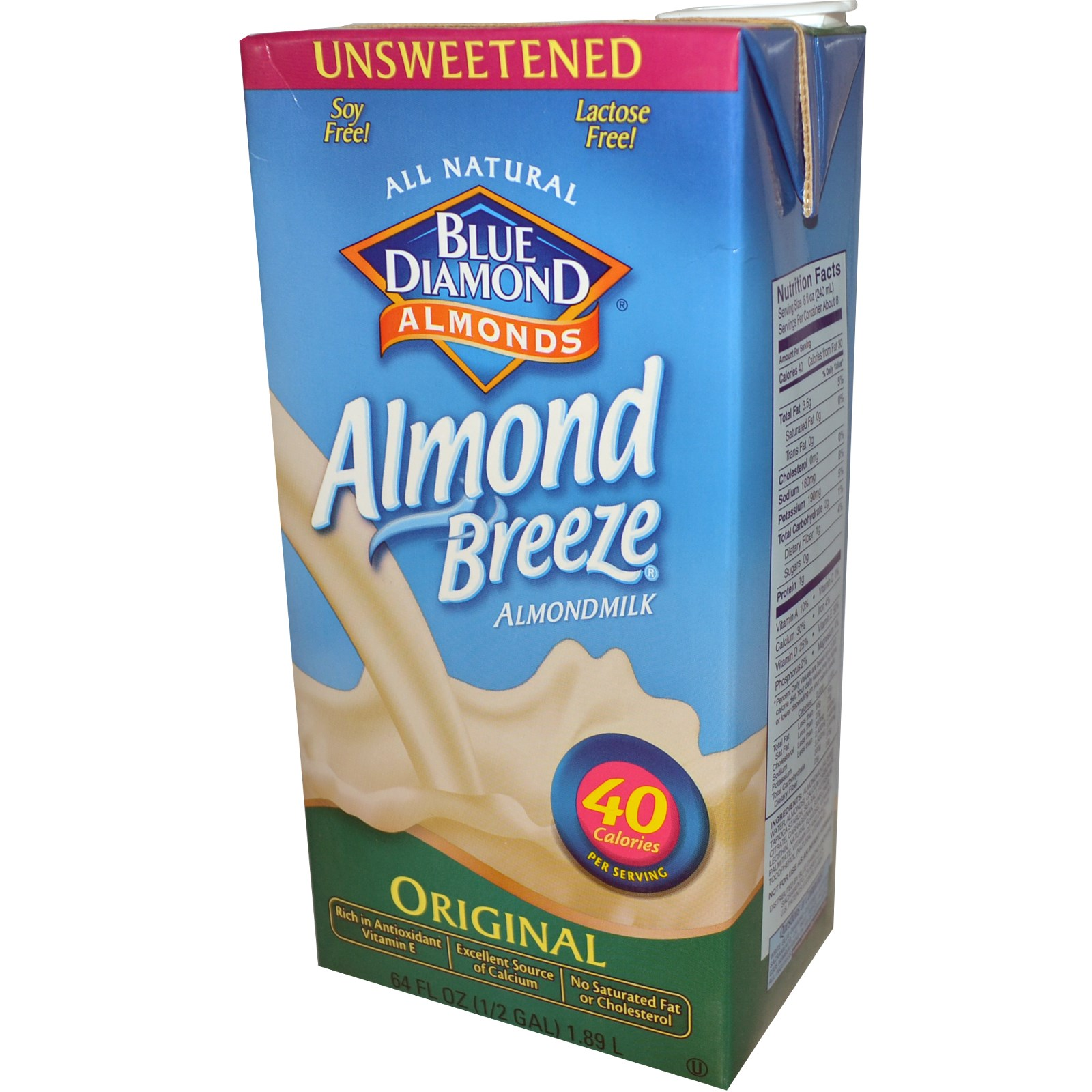 Blue Diamond Almond Breeze Unsweetened Original
