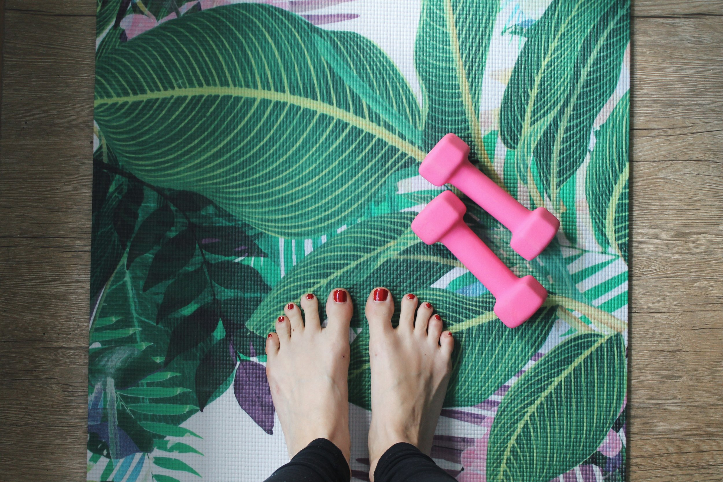 This adorable yoga mat is from  La Vie Boheme Yoga