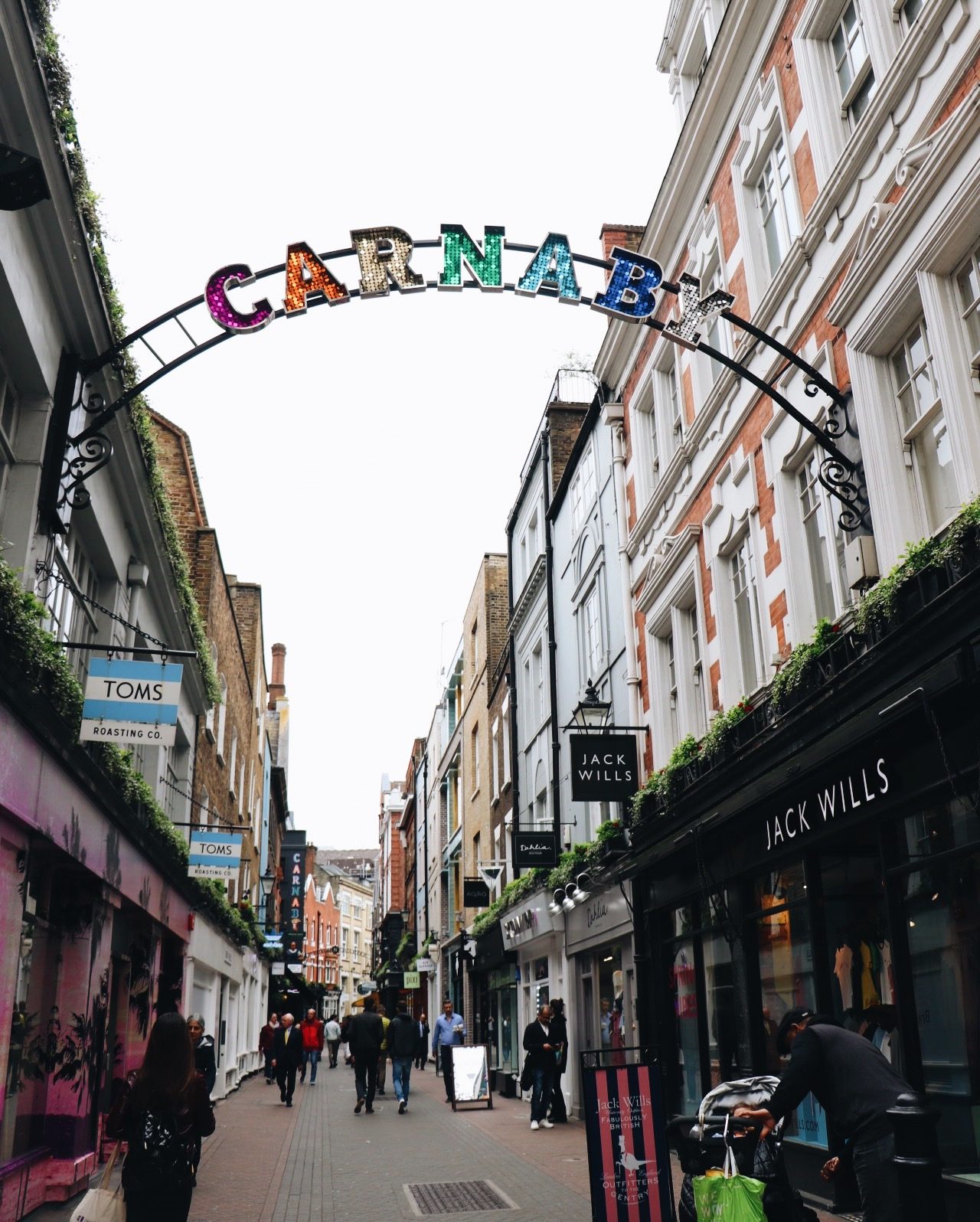 The entrance to Carnaby Street