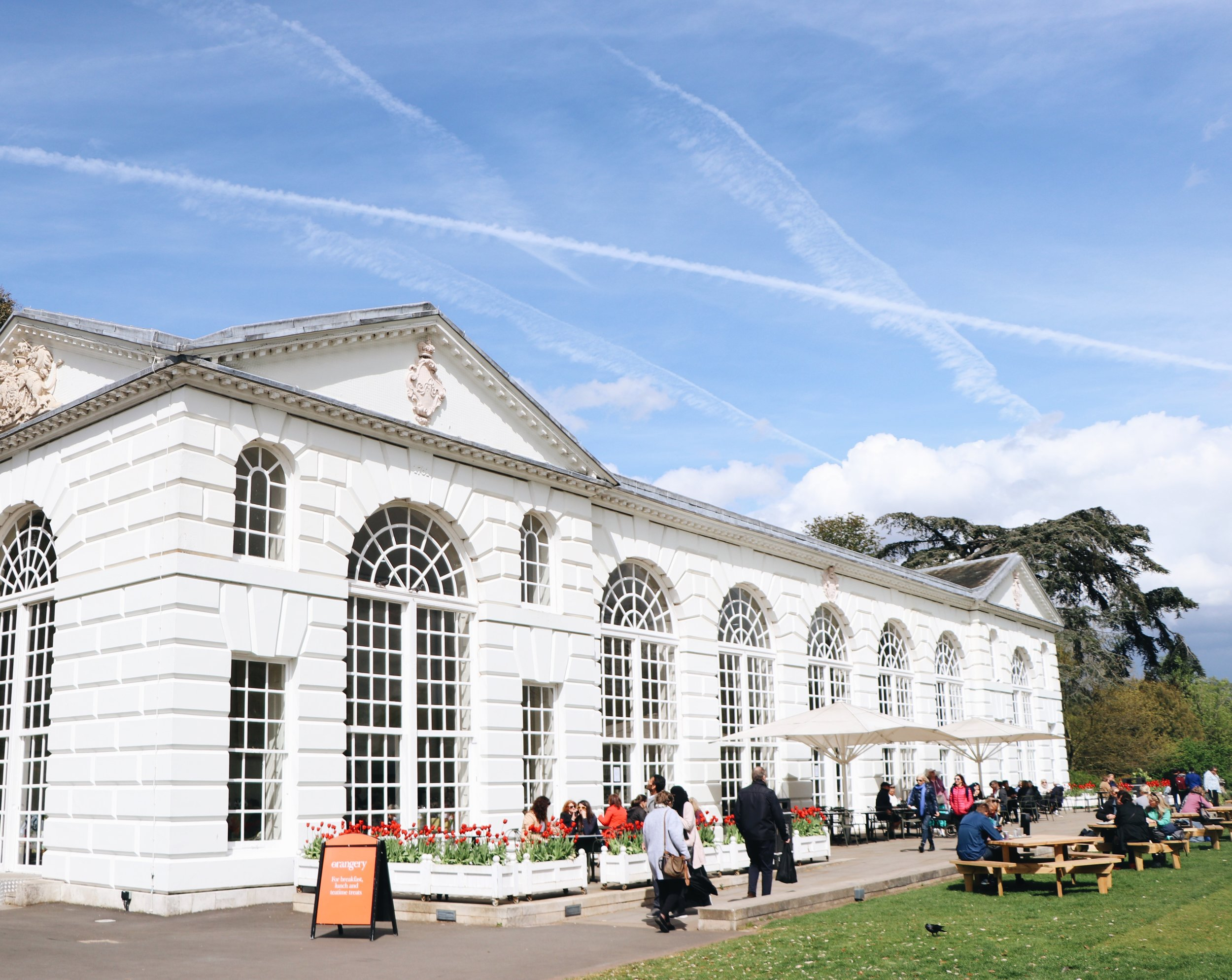 The Orangerie cafe in Kew Gardens