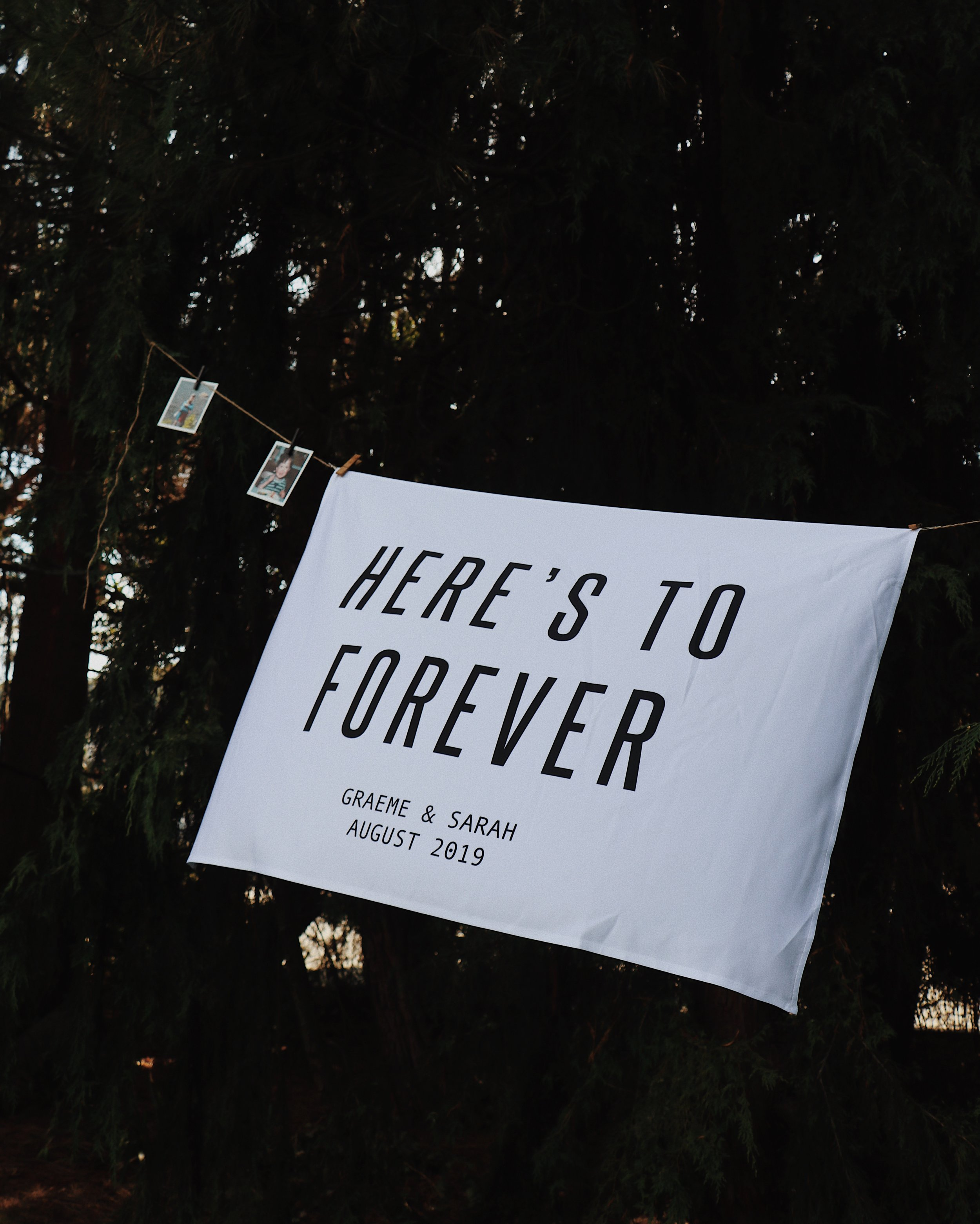 Here's to Forever banner from Etsy