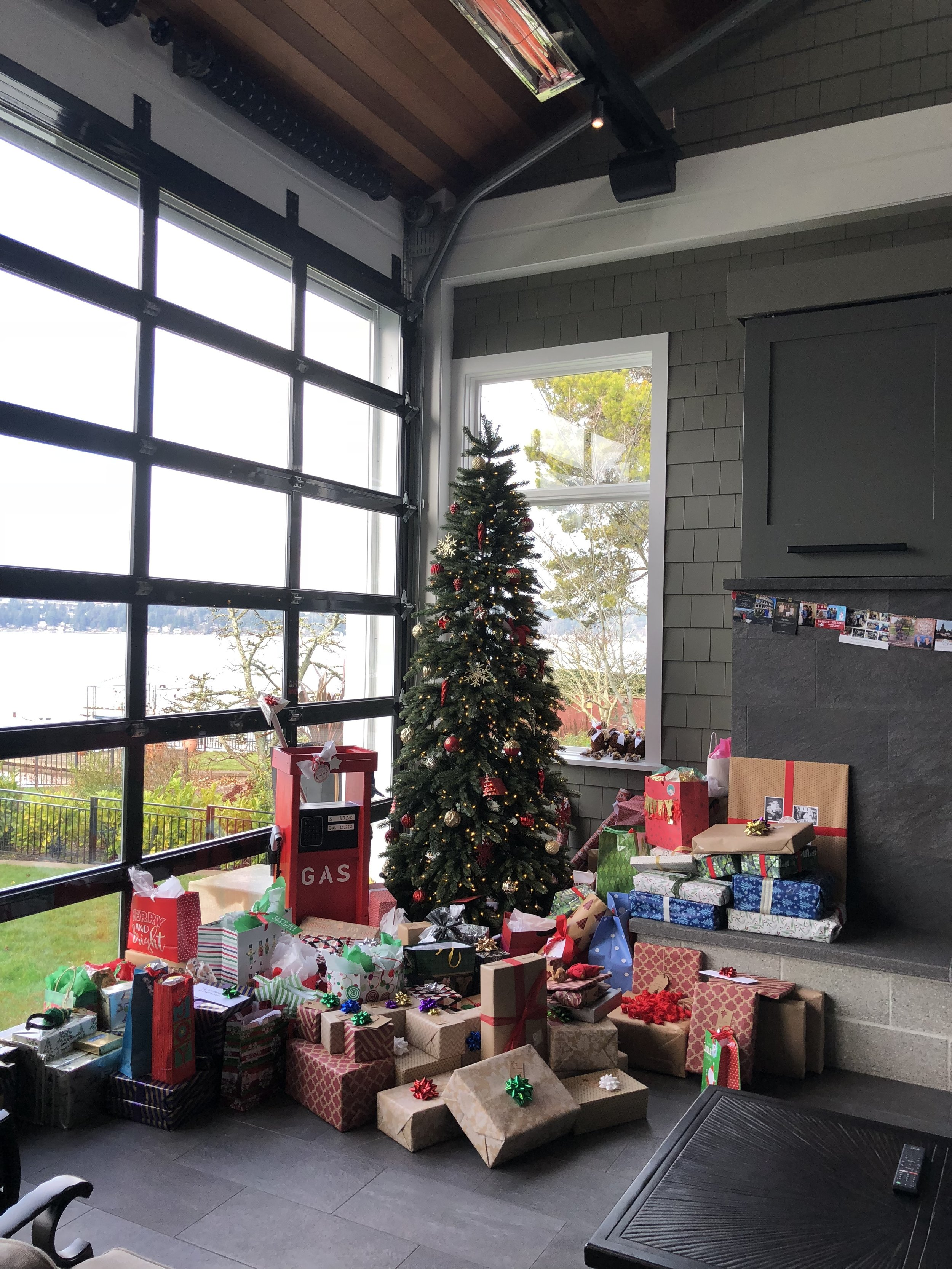 Christmas morning packages