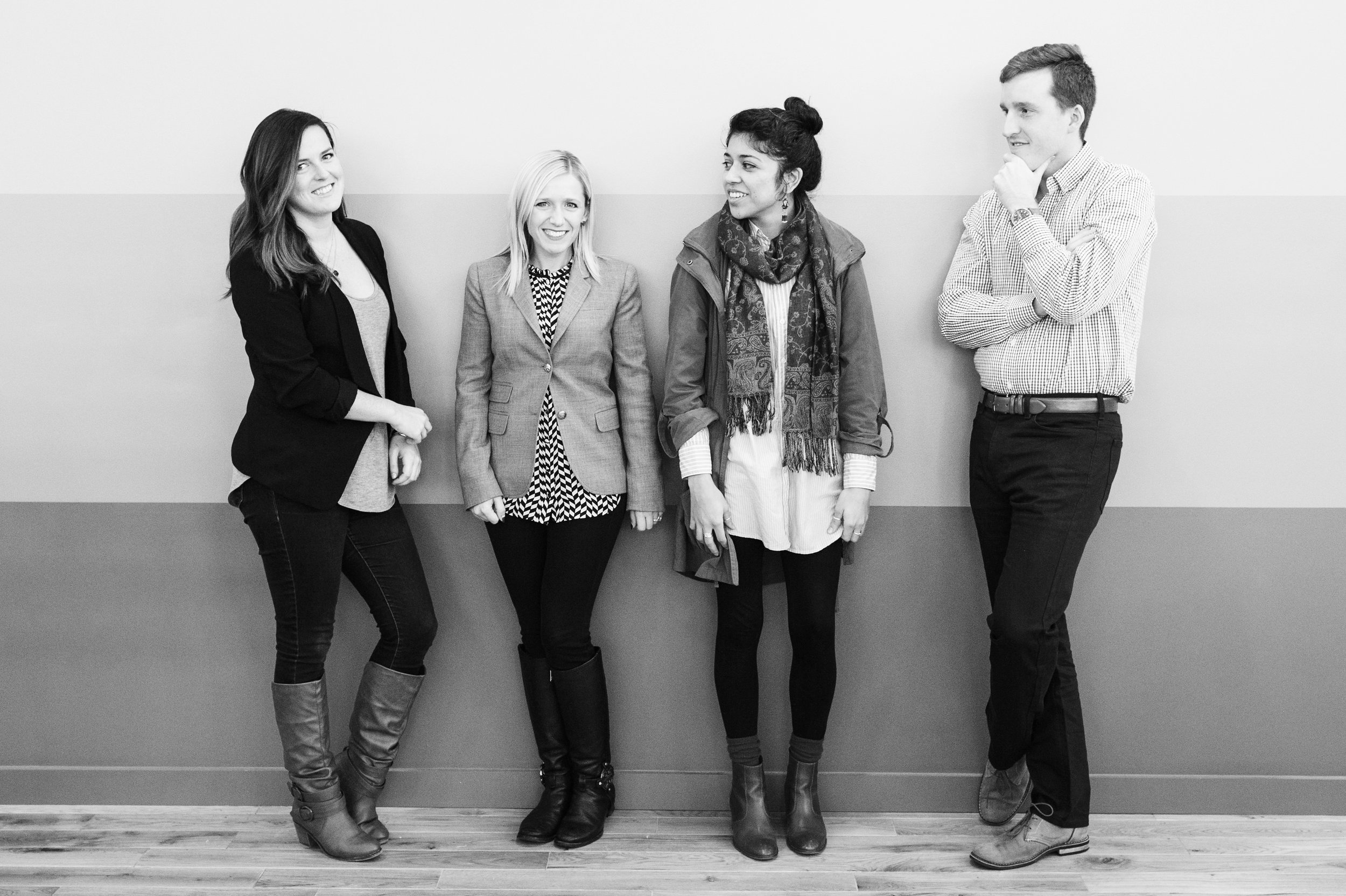 (left to right)    Lauren Janeway   ,    Candice Riley Campbell,       Mirely Cabral   ,    Stephen Wright