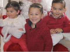 Leana's driving force - these three cuties!