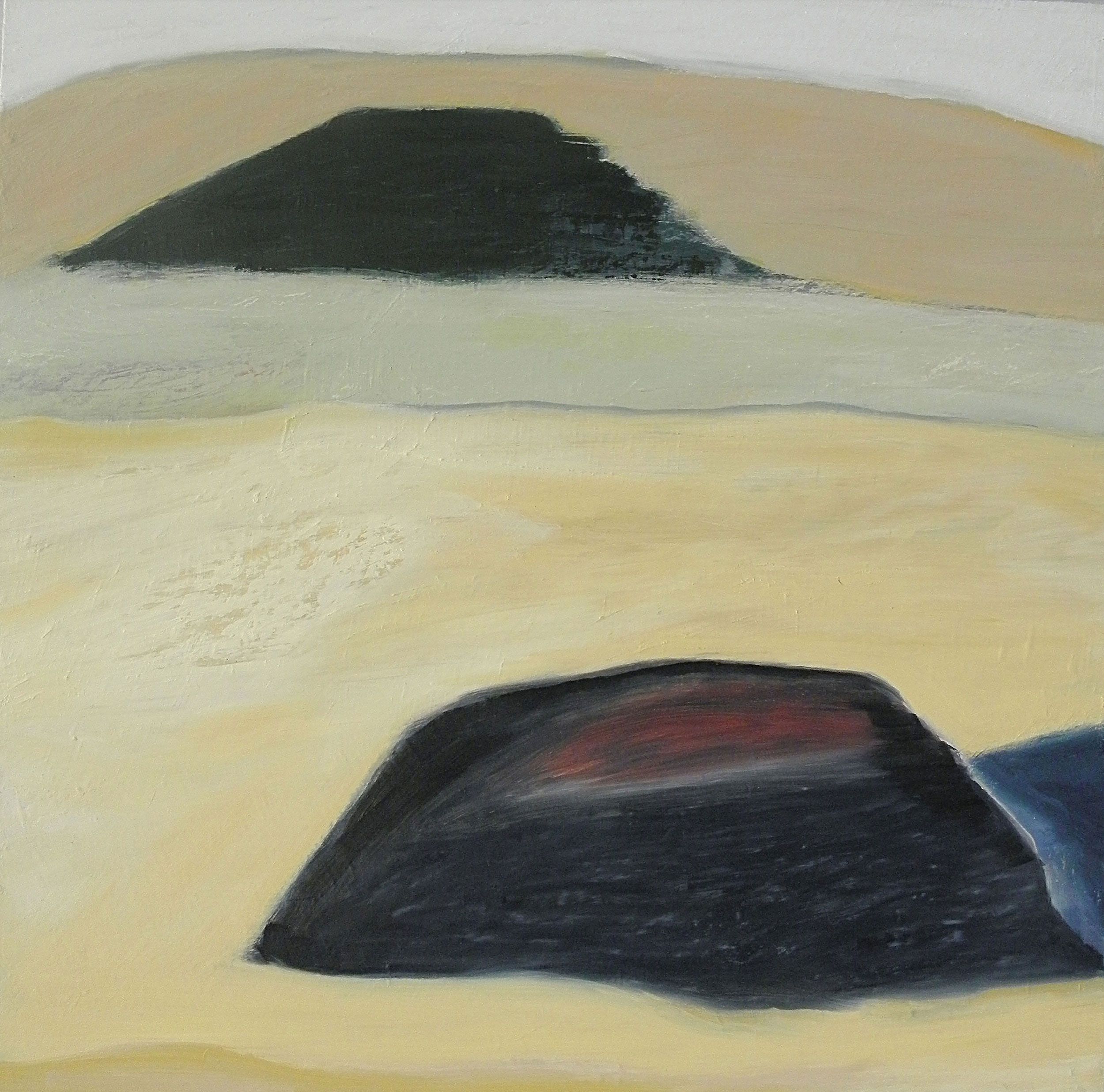 Two Hills 2011, oil on panel, 24 x 24 in.