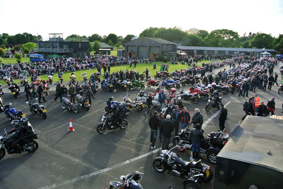 lots of bikes lancaster bomber night