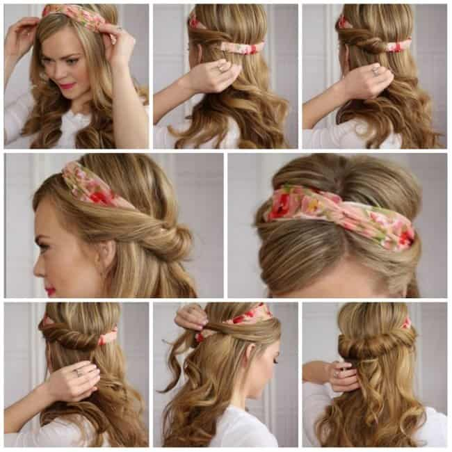 """Similar to the """"Tuck & Cover,"""" you can get a fuller look at the crown by pulling apart your hair. This style is better suited for women with thicker hair."""