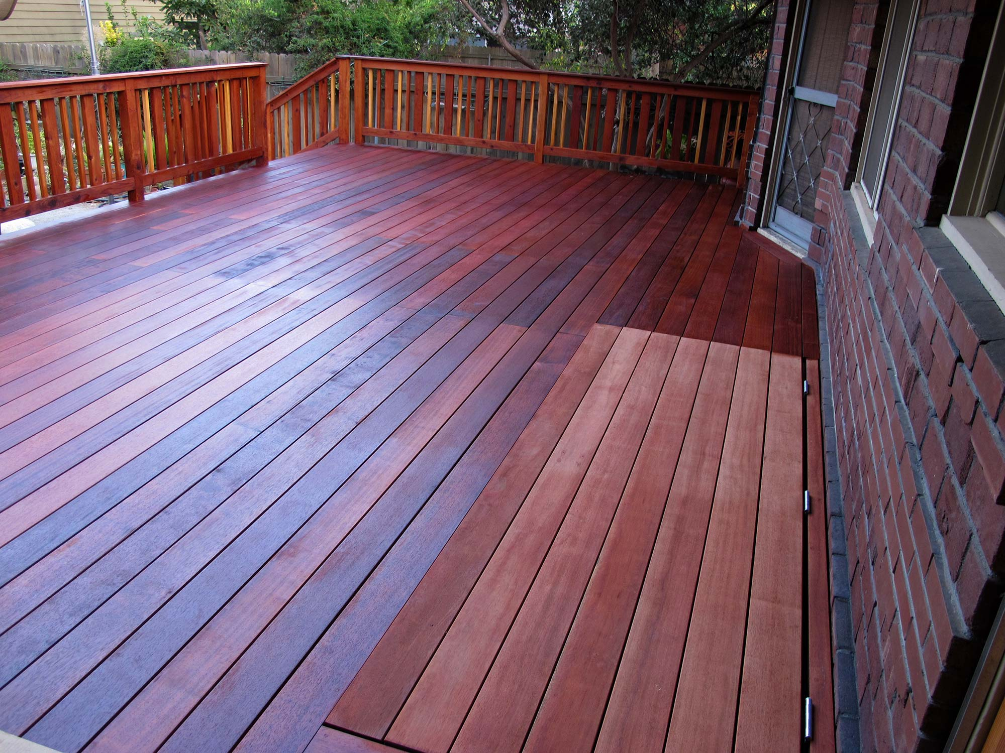 Deck and Wine Cellar Trap Door, Pasadena