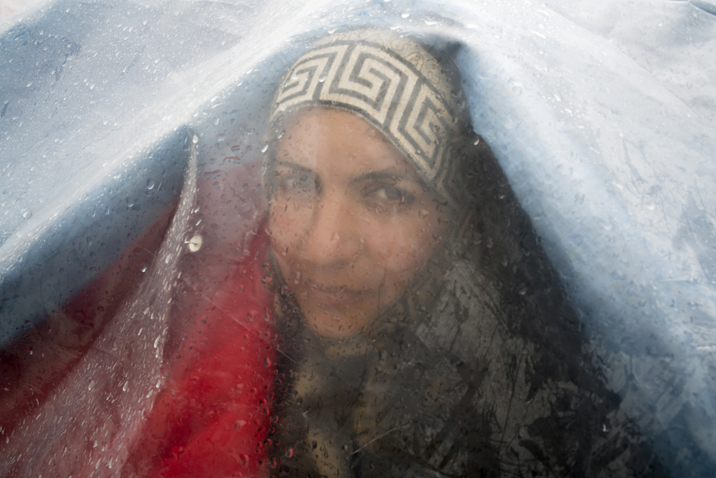 OLGA STEFATOU |  www.olgastefatou.com  |  @olga_stefatou   A Syrian woman on day 8 of a hunger strike Syntagma square. About 100 Syrian refugees protested in front of the German Embassy on November 8, 2017. Most have been waiting for more than a year to reunite with their families in Germany.