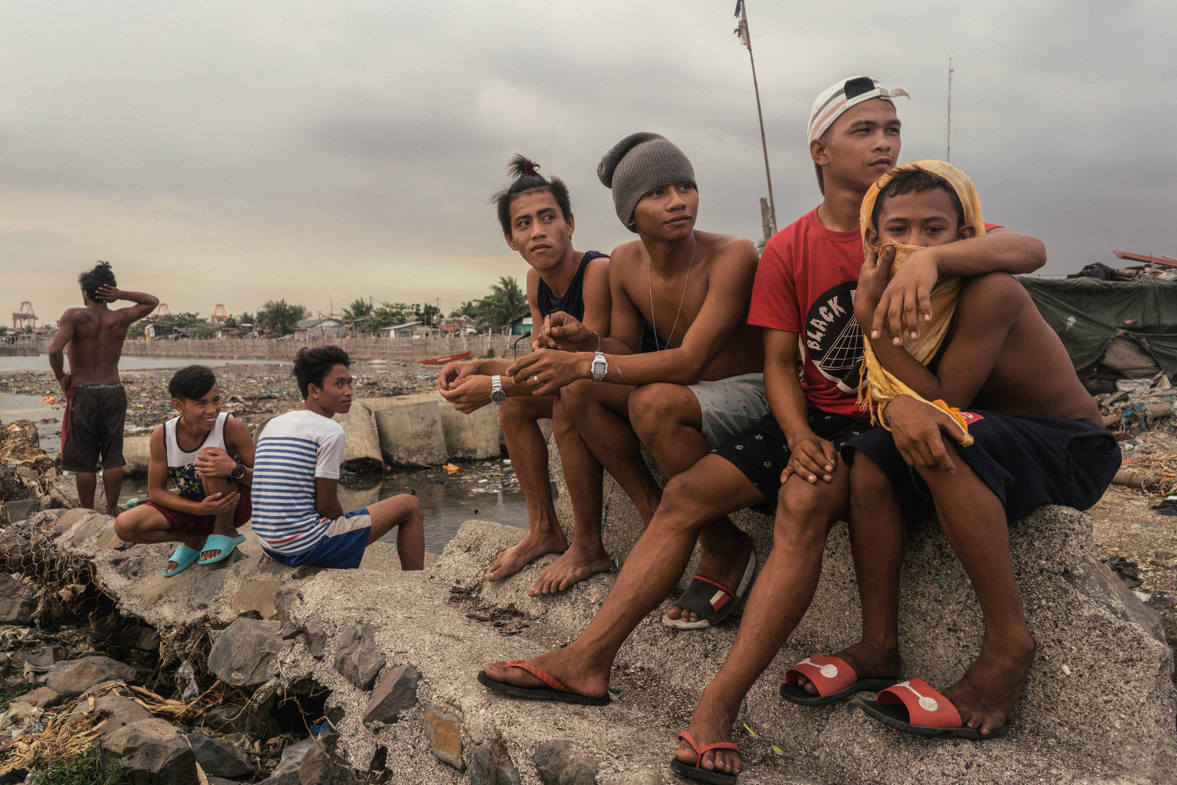 A scene from the Baseco community in Tondo, which has one of the highest concentrations of urban poor settlers in Metro Manila, Philippines.