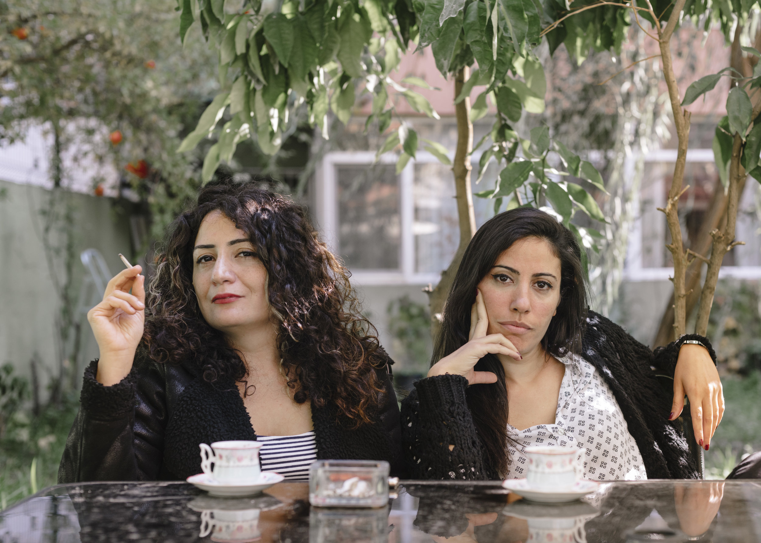 Portrait of Çiğdem and Evin, 2016, from the series  Resist Laughter .
