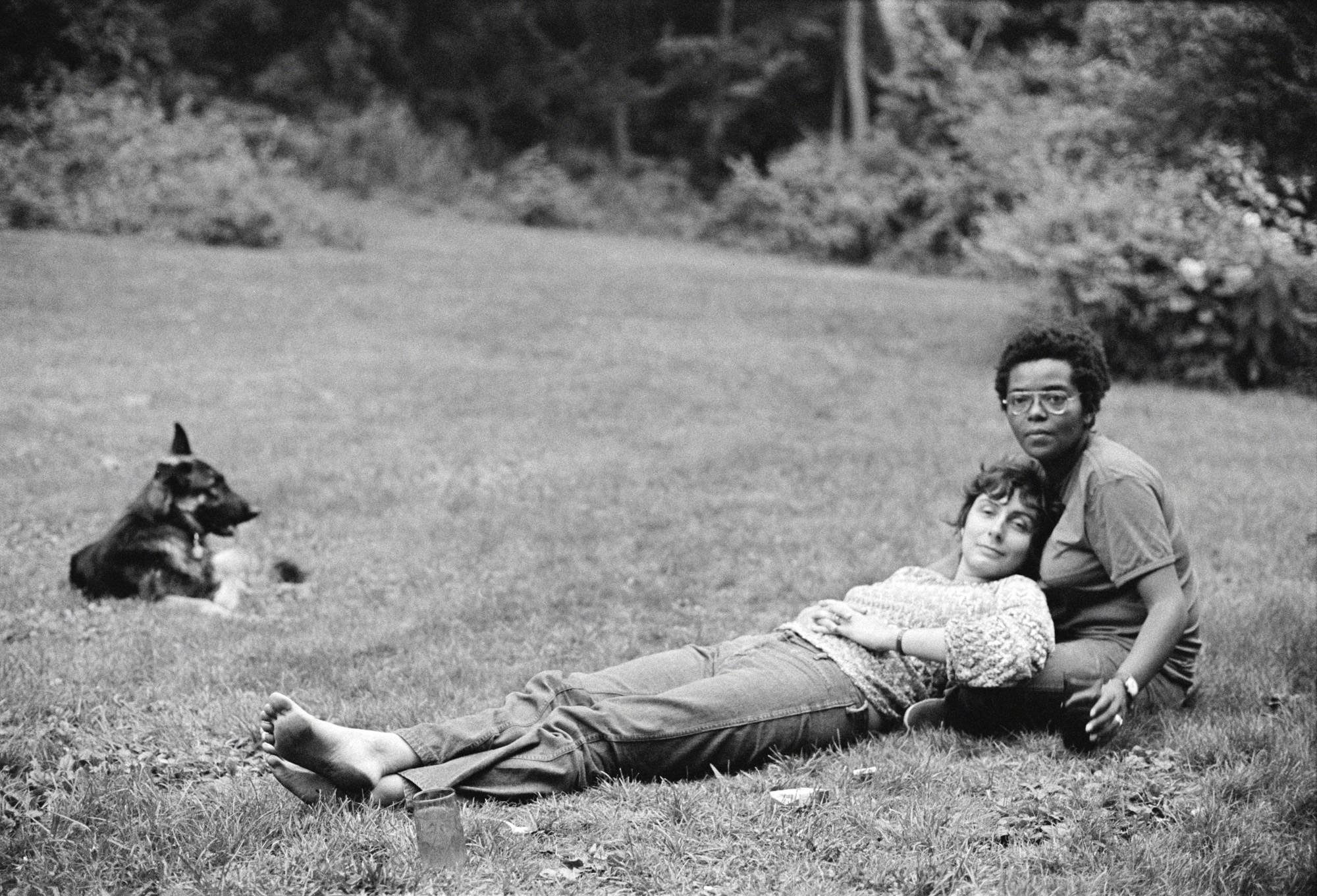 Mychelle and Lee with Zach, the dog, 1972, Cornwall-on-Hudson, NY