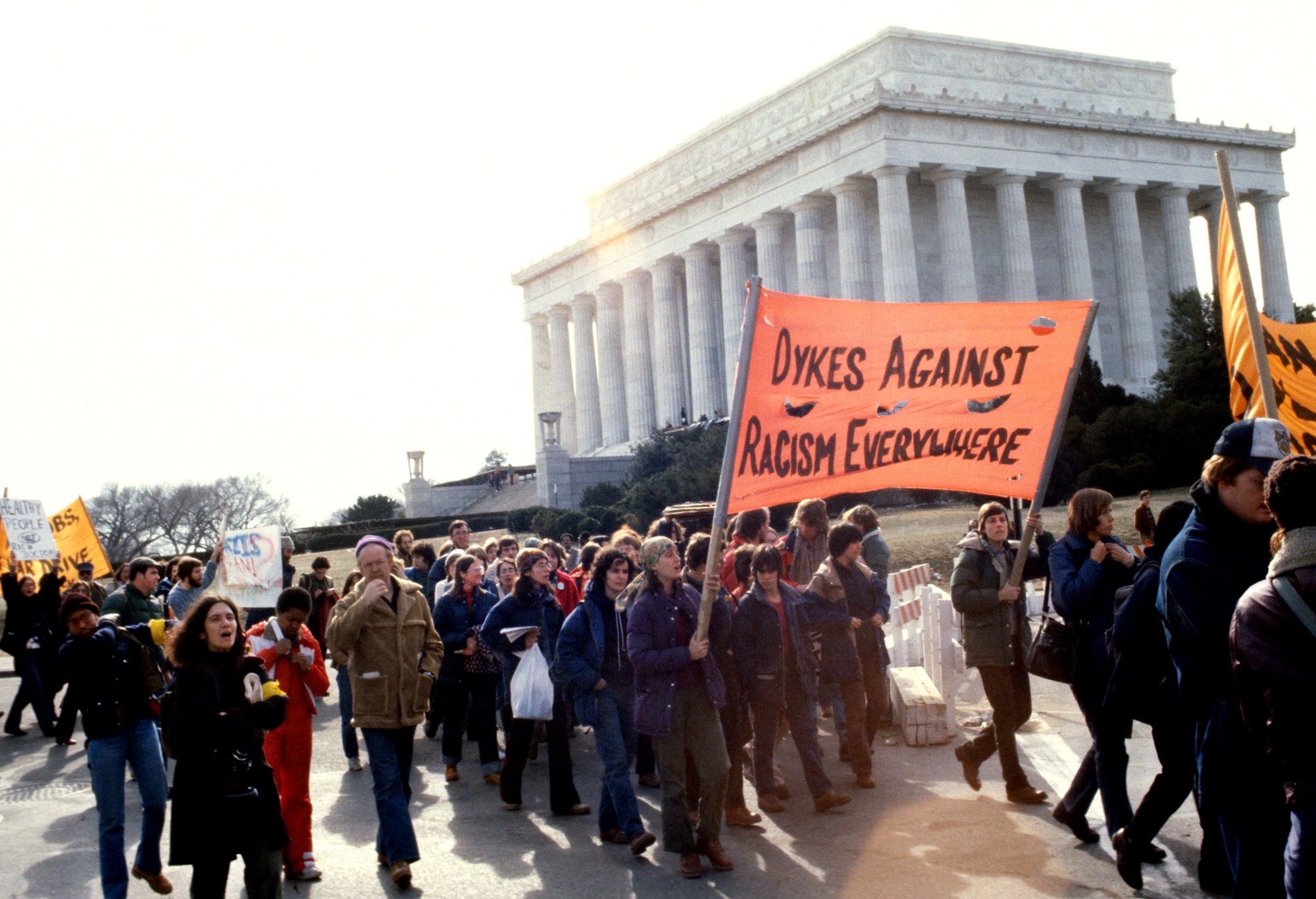 Counter-inaugural protest against Reagan, 1981, Washington, DC