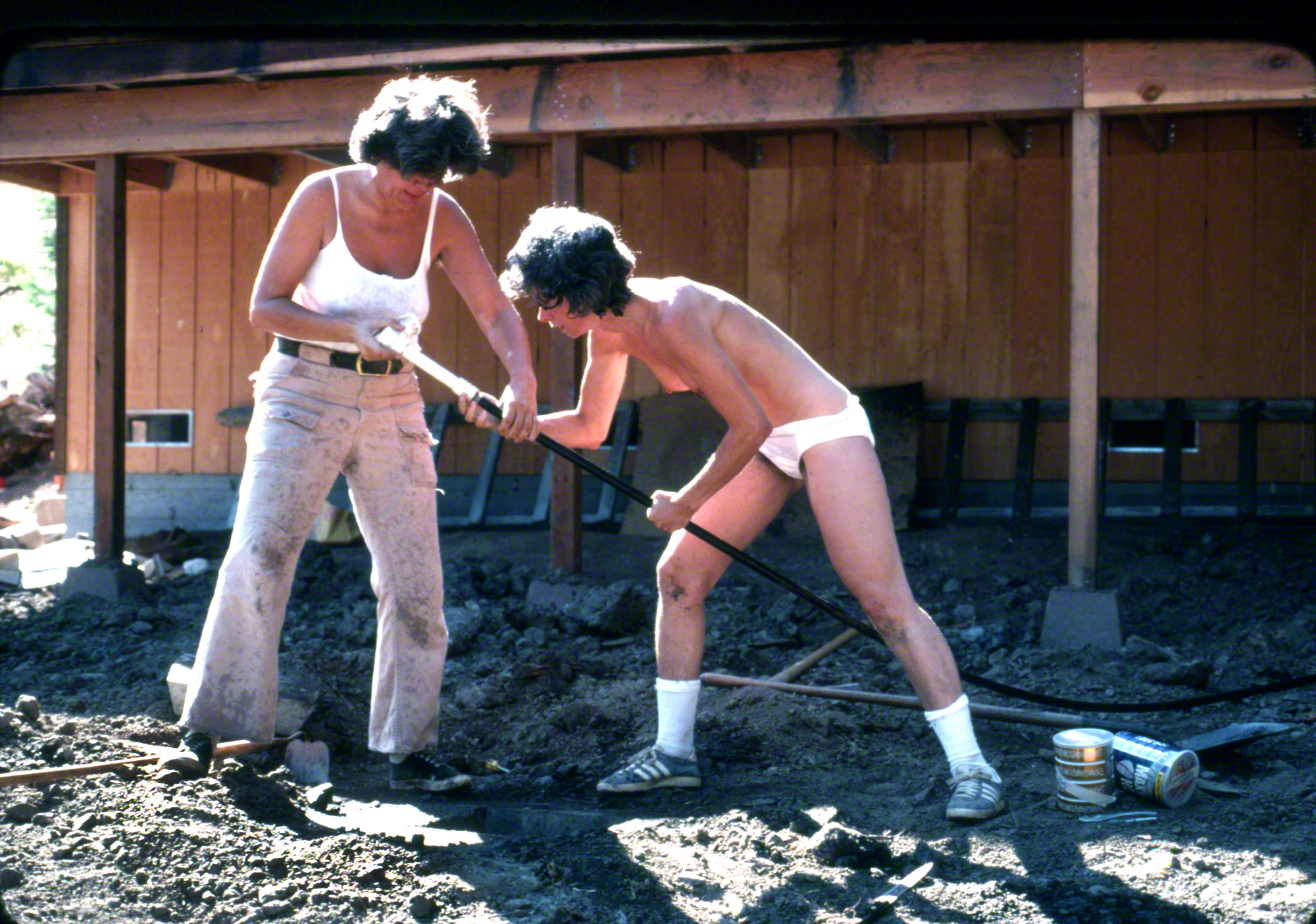 Sally Gearhart and Jane Gurko, 1977, Willits, CA