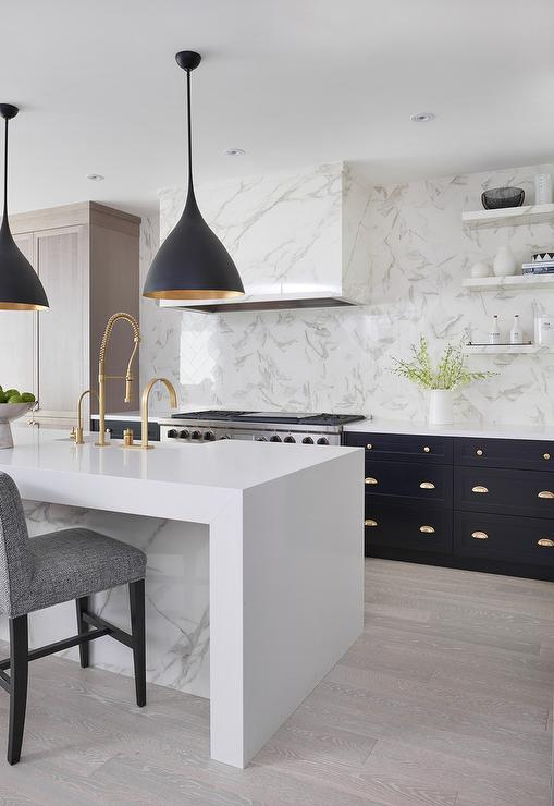 Beautiful. I personally LOVE a handpicked, curated tile backsplash. But I would totally put it in someone else's home because it is such a beautiful statement when you enter the kitchen!