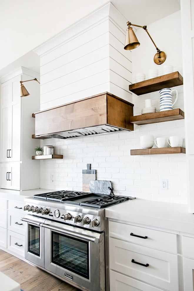 I am a sucker for wood. Natural wood tones are my favorite way to add warmth & texture to a space. Whether it's floating shelves, cutting boards or on your island; any dose will do the trick!