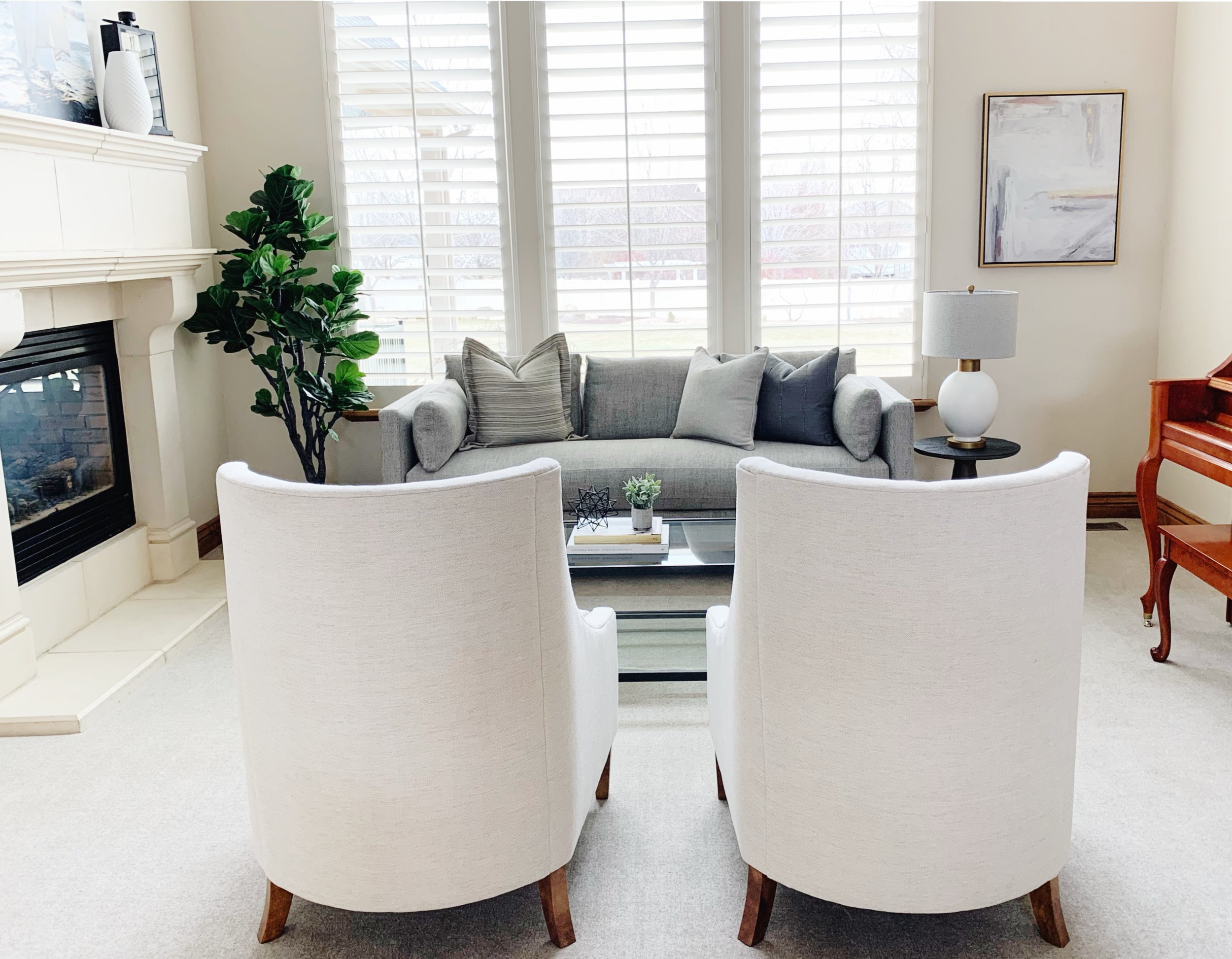 MAPLETON LIVING ROOM REFRESH   The impact of new textiles, clean lines & a fresh color palette!