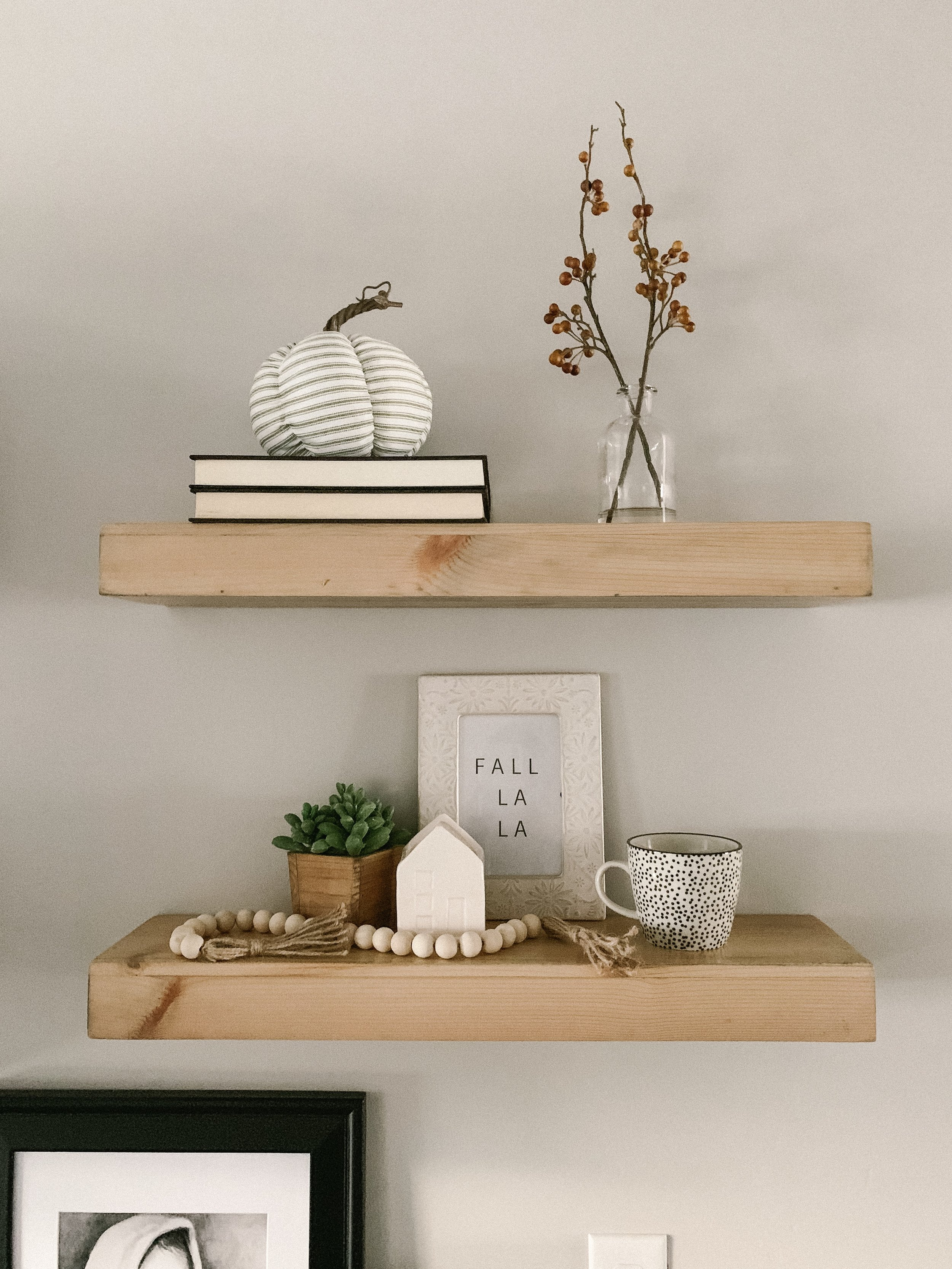 """For example; on my kitchen shelves i keep my books, frame and beads as my """"bases""""."""